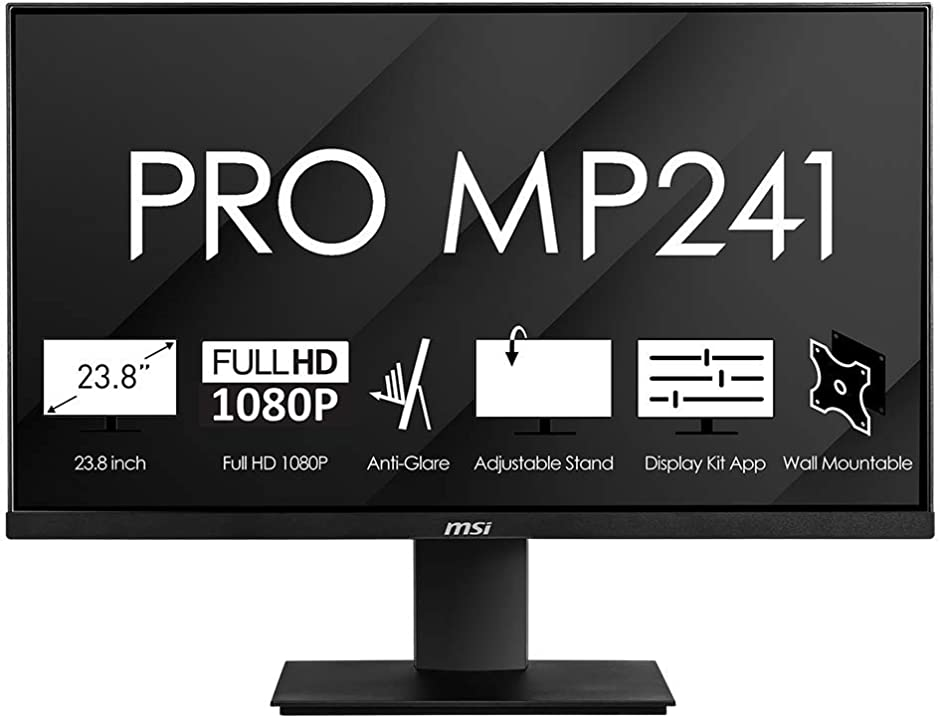 Monitor pc msi pro mp241 monitor professionale flat 24