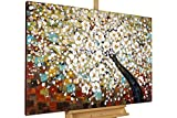 KunstLoft® Acryl Gemälde 'Zauber im Baumwipfel' 120x80cm handgemalt Leinwand Bild -