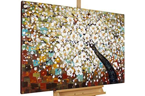 KunstLoft® Acryl Gemälde 'Zauber im Baumwipfel' 120x80cm handgemalt Leinwand Bild