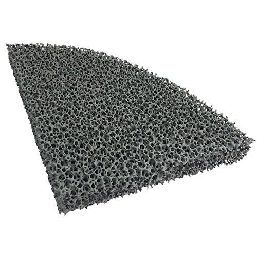 Flamado Kaminofen Feinstaub Rußfilter 215 x 165 x 25 mm S10 (1/4 Rund) Kamin Brennraum Ersatzteil