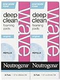 Neutrogena Wave Deep Clean Foaming Pads Refills, 30 ct, 2 pk