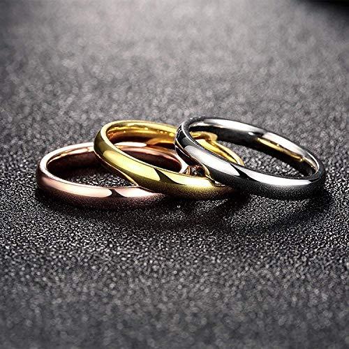 『Rockyu ジュエリー ブランド 3連リング レディース 指輪 チタン ダイヤ 金 18k ピンクゴールド シルバー』の2枚目の画像