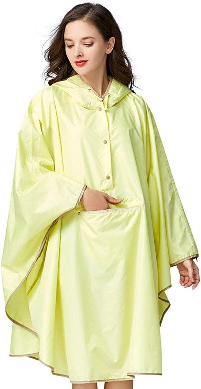 MultiFunction Portable Raincoat, Fashion Magic Cloak Raincoat Poncho Large Pocket with Cap Light and Loose Waterproof OnePiece Raincoat, Adult Raincoat,Yellow