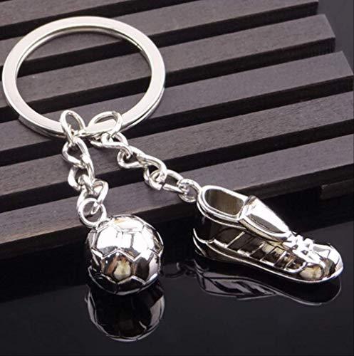MEIHEK Schlüsselanhänger Metall Keychain Fußball-Schlüsselkette Neue Qualitäts-Fußball-Schuhe und Fußball-Auto-Schlüsselring-Geschenk-Metallbeutel Keychain # 17075-1
