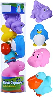 Dorakitten Bath Squirter Set Interactive 5PCS Sea Animal Water Spray Toy Bathtub Squeeze Toy Kids Bathing Toy