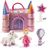 My First Princess Castle Playset with Plush Unicorn, Wand, Mirror and Princess Toys for 1 Year Old Girls