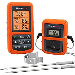 Wireless Dual Probe Thermometer For Smoked Chicken