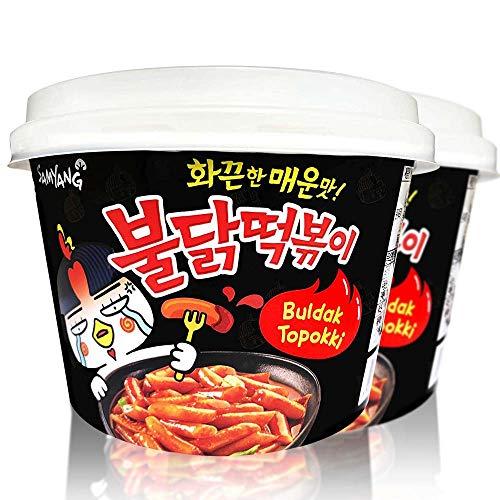 Buldak Tteokbokki 2Pack Korean Rice Cake Instant Korean Snack Tteok Tteokbokki Rice Cake 떡볶이 (Spicy)