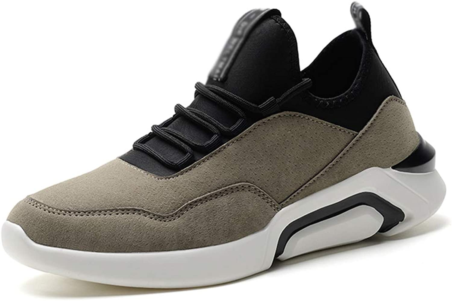 Outdoor Casual shoes, Male,Soft Comfortable Breathable Lace Suede Running shoes Non-Slip Wear Resistant Sports shoes High Elasticity