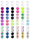 SCERRING 14G Ball for Piercing Replacement Balls Externally Threaded Nipple Industrial Tongue Belly Piercing Rings Body Jewelry Piercing Barbell Parts 5mm 72PCS