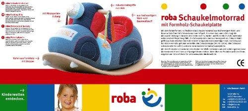 roba Schaukelmotorad, Schaukelspielzeug mit weicher Stoff-Polsterung, Schaukelsitz für Kleinkinder ab 18 Monate - 5