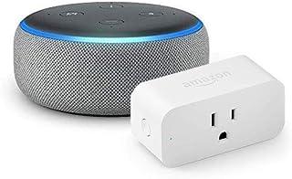 Echo Dot with Amazon Smart Plug, Heather Gray