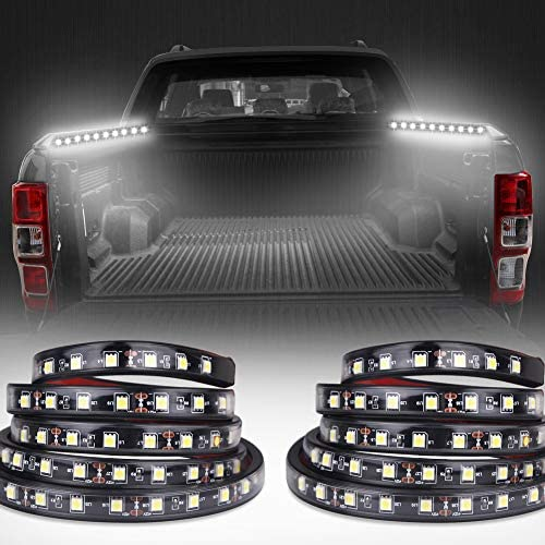 VANJING 2PCS 60 White LED Light Strip Kit for Truck Bed Cargo Boat Pickup RV SUV Waterproof product image