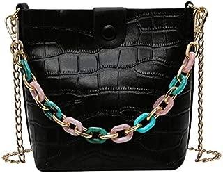 TOOGOO Fashion Women's Shoulder Bag Female PU Leather Messenger Bag Flip Composite Handbag Black