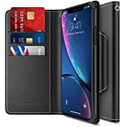 """Maxboost Wallet Case Compatible Apple iPhone XR Case (2018 6.1"""") [mWallet Folio Style] [Stand Feature] Protective PU Leather Flip Cover with Credit Card Slots+Side Cash Pocket+Magnetic Clasp Closure"""