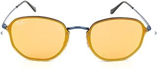 Ray-Ban RB3579N Blaze Hexagonal Sunglasses, Blue/Dark Orange Gold Mirror, 58 mm