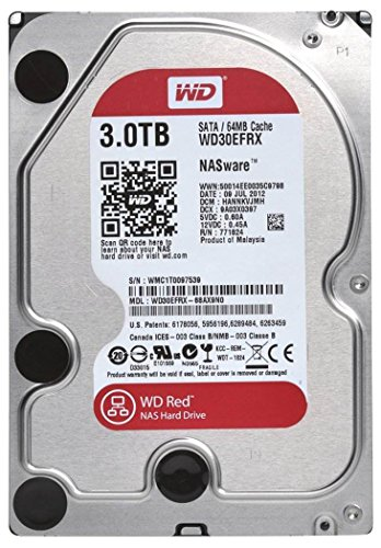 Western Digital Red 3TB SATA 6 GB/s - Disco Duro (Serial ATA III, 3000 GB, 8,89 cm (3.5
