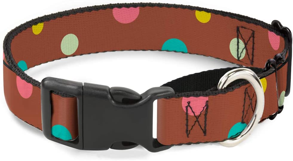 Buckle-Down Martingale Dog Collar - Dots Brown Cheap SALE Start Multi Outlet ☆ Free Shipping Pastel 1.