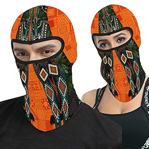Zhark Lobo naranja Geo Pasamontañas Cara Ma-sk Protección UV a prueba de viento capucha táctica máscara para esquí ciclismo pesca al aire libre Caza