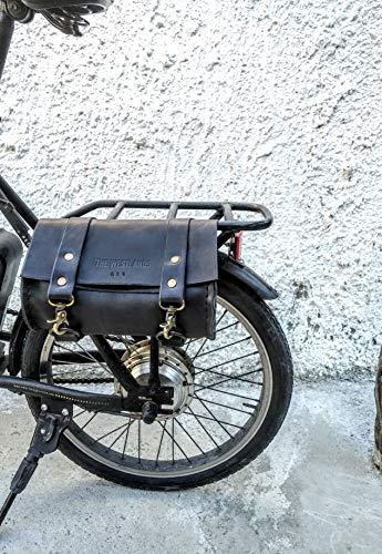 Echte Leder Motorradtasche Made in Italy Leder Motorrad Werkzeughalter anpassbare Fahrrad handgefertigt Handwerk