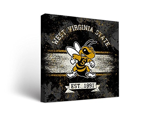 Victory Tailgate West Virginia State WVSU Yellow Jackets Canvas Wall Art Banner Design (24x36)
