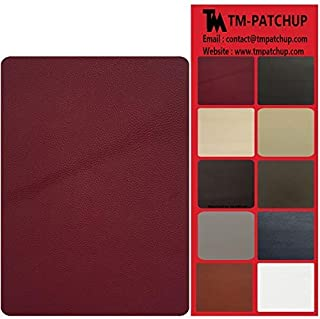 TMgroup, Leather Couch Patch, Genuine Faux Leather Repair Patch, Peel and Stick for Sofas, car Seats, Hand Bags,Furniture, Jackets, Large Size 8-inch x 11-inch (Burgundy)
