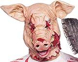 Maschera di Halloween mummia horror per maschere maschili e femminili (maschera per maiali) Maschera perfetta come costume da travestimento per Halloween Maschera horror di alta qualità per uomo e donna realizzata in lattice per travestimento ad Hall...