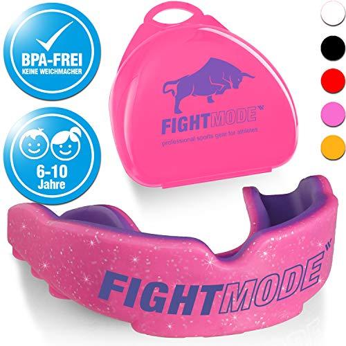 Profi Sport Mundschutz (2019) - Neue Luftkanäle für mehr Kondition - Komfort und sicherer Halt im Kampfsport, Boxen, MMA, Kickboxen, American Football, Hockey - für Kinder 6-10 Jahre - Pink/Lila