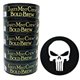 Jake's Mint Chew Bold Brew Pouch 5 Cans with DC Crafts Nation Skin Can Cover - Punisher
