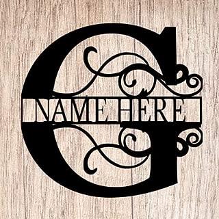 AJD Designs Personalized Last Name G Door Hanger - 20
