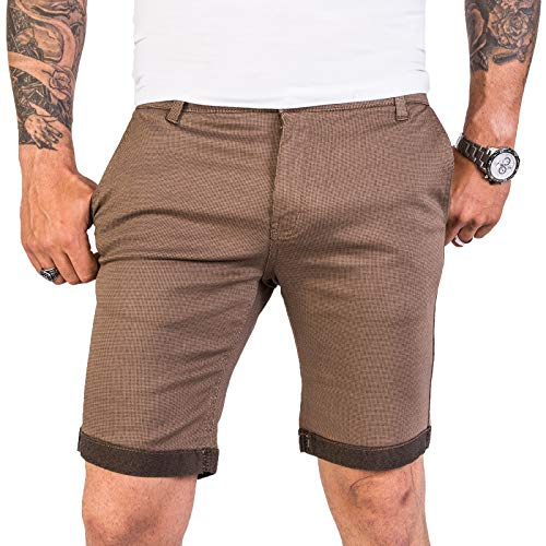 Rock Creek Designer Chino Shorts Herren Short Sommerhose Elegant Bermuda Kurz Herrenhose Anzugsshorts Herrenshorts Bermudas RC-2204 Dunkelbeige W32