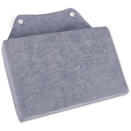 Bestlivings Badewannenkissen Nackenkissen Kissen mit Saugnäpfen Auswahl: ca. 16 x 25 cm, Farbe: grau - anthrazit