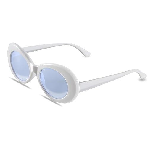 d8508d6cfa Bold Retro Oval Mod Thick Frame Sunglasses