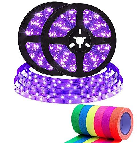 Striscia UV LED, Kit Nastri LED UV Flessibile 12V, Strisce LED Nera LED 10M, Sfera Fluorescente per Interni Non Impermeabile, Illuminazione Scenica, Rivestimento Del Corpo [A Energy +]
