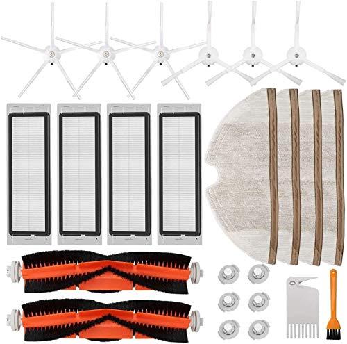 LHHNBY Kit de accesorios para aspiradora robótica Mijia S5 S6 E20 E25 E35 S50, 22 unidades de repuesto