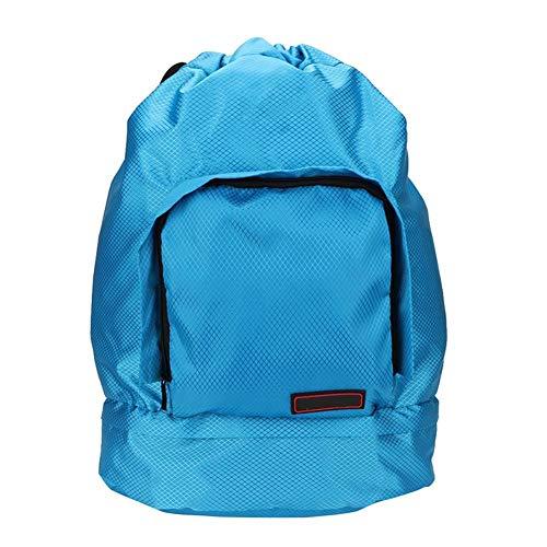 Topinc Rugzak, ultralicht, draagbaar, opvouwbaar, waterdicht, droog en nat, voor sportgymnastiektraining buitenshuis, MEERWEG verpakking blauw