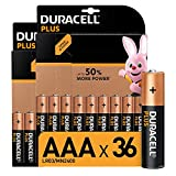 Duracell Plus AAA Micro Alkaline Batterien LR03, 36er Pack [Amazon exclusive]