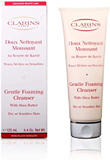Clarins Gentle Foaming Cleanser with Shea Butter | Facial Wash for Dry or Sensitive Skin | Gently Cleanses, Softens, and Smoothes While Maintaining Balance | 4.4 oz