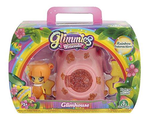 Giochi Preziosi Rainbow Friends, Glimhouse Tronco con Glimmies Esclusiva Beaverly, GLN04600