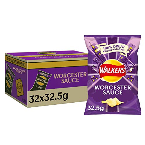 Walkers Crisps Worcester Sauce 32 x 32,5g