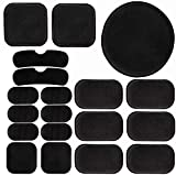 Outdoor Base Airsoft Helmet Pads, 19pcs Internal Foam Protective Cushion Set EVA Padding Kits Replacement Accessories Mats for Fast Mich ACH USMC PASGT Helmets Black