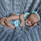 Saskia Reborn Muñecas 50Cm Realista Ojos Cerrados Muñeca Renacidas Silicona Completa Suave Natural Lavable Ligero Reborn Dolls Juguetes