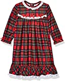 Little Me Little Girls' Christmas Pajamas -Red Plaid Nightgown (6X)
