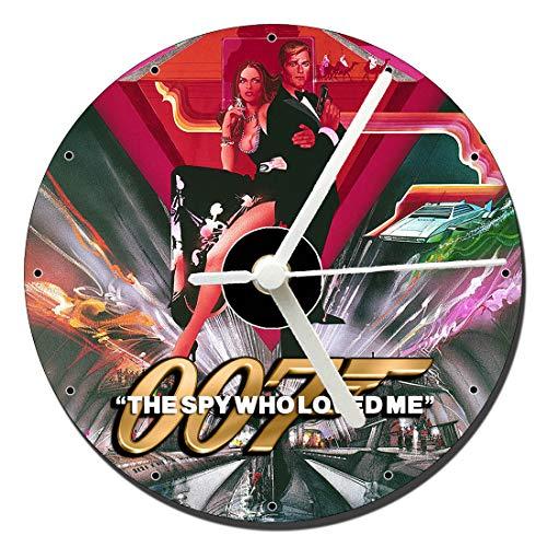 MasTazas James Bond 007 La Espia Que Me Amo The Spy Who Loved Me Roger Moore Reloj CD Clock 12cm