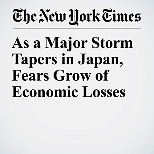 As a Major Storm Tapers in Japan, Fears Grow of Economic Losses copertina