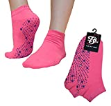 Pilates, Yoga, Barre, Kampfsport, Fitness, Tanz. Anti-Rutsch, Stürze Prävention Grip-Socken, Grip Socks (Pink/Lila)