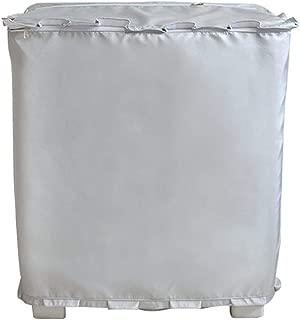 [Mr. You ]洗濯機カバー 二層式専用 独立の水入口のデザイン シルバー生地アップグレード (M, シルバー)