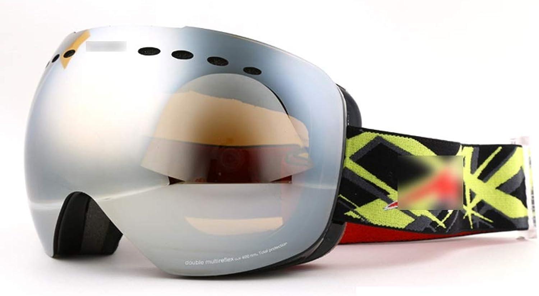 Ski Goggles Double Anti-fog Polarized Goggles Card Card Myopia Ski Goggles Yellow LJJOZ (color   A)