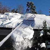 Roof Snow Shovel Garden Roof Snow Removal Tool Wheel Oxford Snow Shovel Adjustable