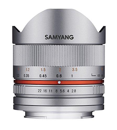 Samyang F1220306102 - Objetivo fotográfico CSC-Mirrorless para Sony E (Distancia Focal Fija 8mm, Apertura f/2.8-22 II UMC, Ojo de pez), Plateado